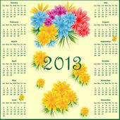 Kalendář 2013 s květinami