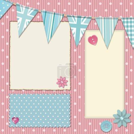 Pink polka dot srapbooking background