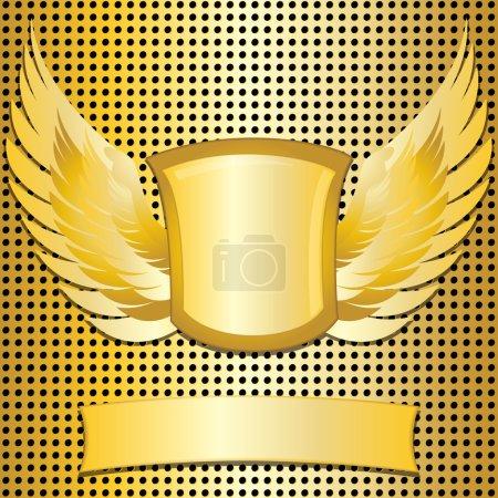 Classic style metallic emblem