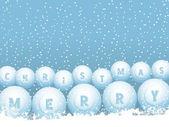 Bingo lottery ball Christmas snowballs