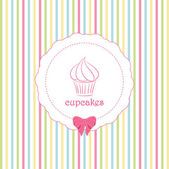 cupcake and striped background