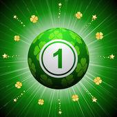 lucky four leaf clover bingo ball