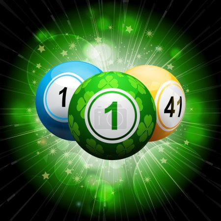 lucky clover bingo ball explosion on green2