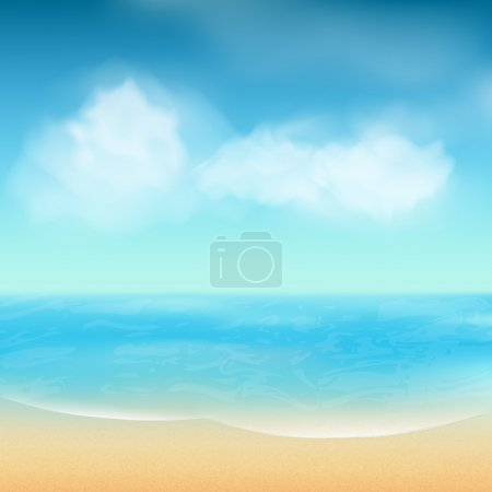 summer sea and sand background