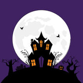 Halloween Spooky House Vector Background