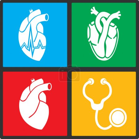 Cardiology. Heart doctor vector icon