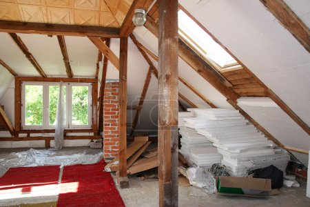 Before reworking (renovation) of the old attic