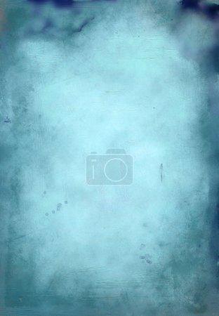 Foto de Pintura azul fondo acuarela de la mano - Imagen libre de derechos