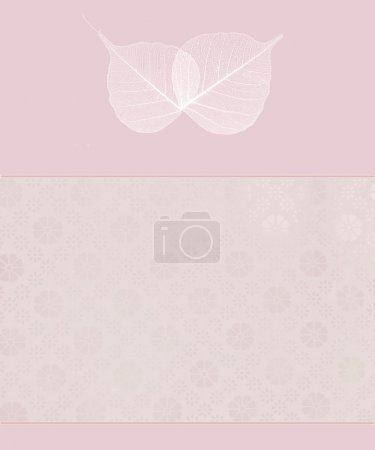 Foto de Hojas translúcidas de fondo romántico rosa - Imagen libre de derechos