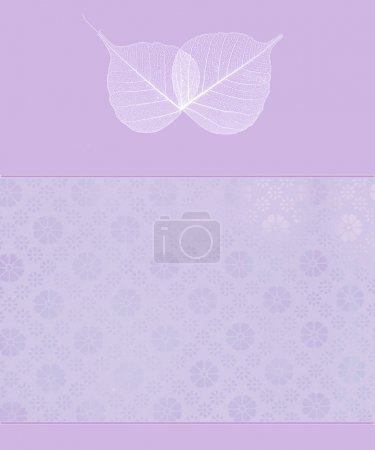 Foto de Translúcido hojas sobre fondo romántico púrpura - Imagen libre de derechos