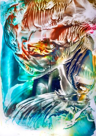 Surreal vibrant art in encaustic wax by Kay Gale