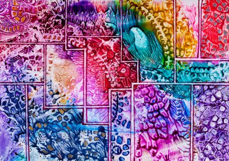 Tapestry art pattern in wax...
