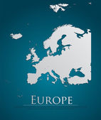 vector Europe Map card paper
