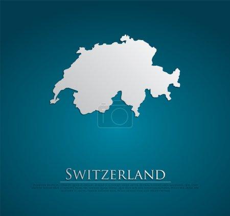 vecteur Suisse Carte papier