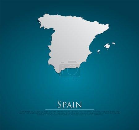 vecteur Espagne Carte papier