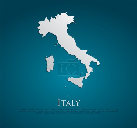 vector Italy Map card paper