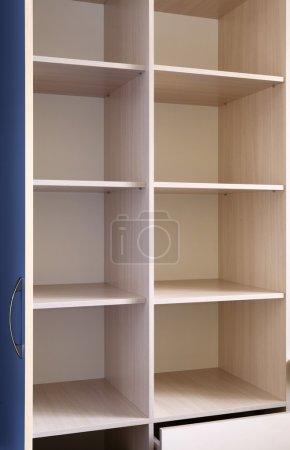 Empty wooden furniture