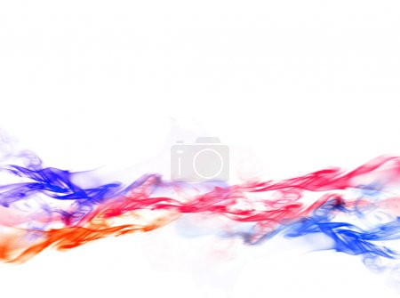 Smoke on white background