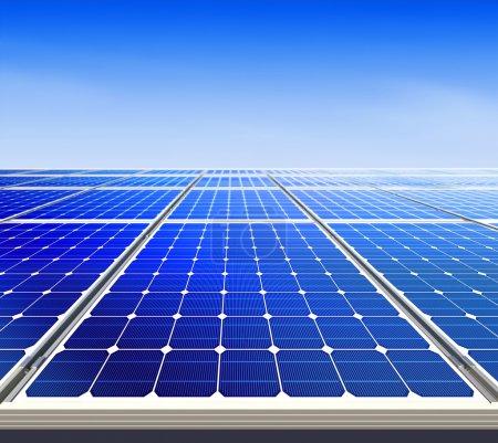Foto de Renovable, energía solar alternativa, planta solar - Imagen libre de derechos