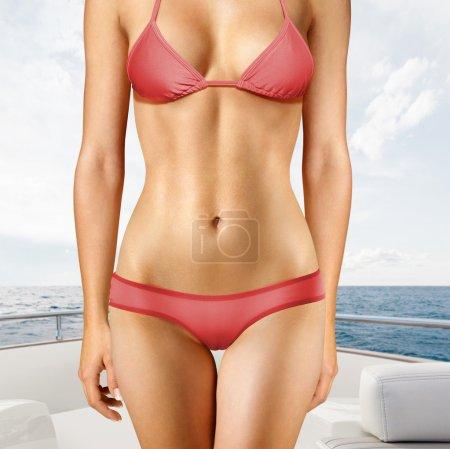 Woman on yacht rts