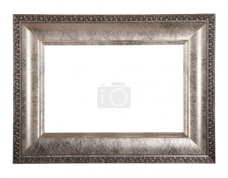 Photo for Antique classical frame isolated on white background, with path - Royalty Free Image