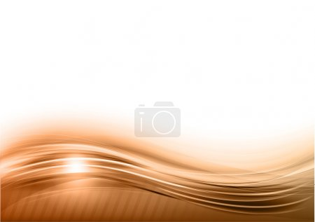 Illustration for Wave abstract background on the white - Royalty Free Image