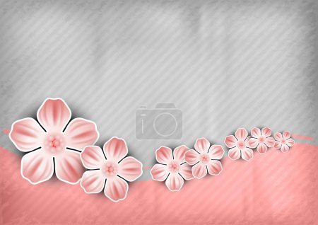 Illustration for Spring background with the pink wave - Royalty Free Image