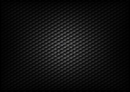Illustration for Hexagon background texture - black color - Royalty Free Image