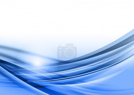 Illustration pour Abstrait bleu - vecteurs lignes - image libre de droit