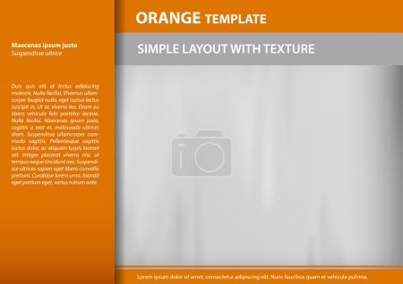 Illustration for Orange layout with easy removal sample text - Royalty Free Image