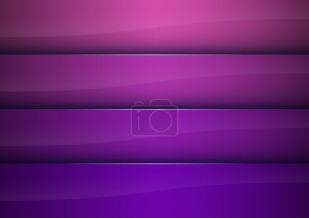 Illustration for Purple vector background as four stripes - Royalty Free Image