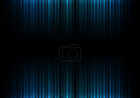 Illustration for Blue vertical lines in the dark space - Royalty Free Image