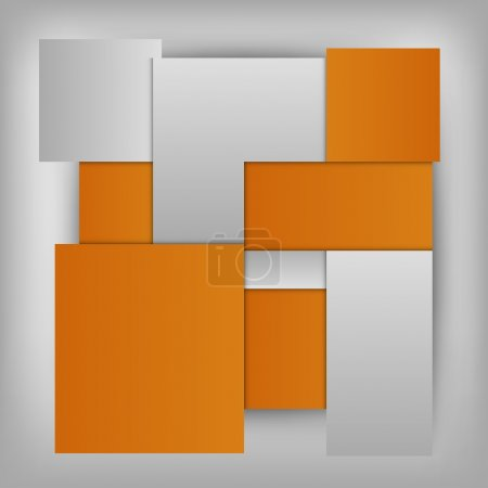 Illustration for Orange squares in the gray space - vector layout. Version without sample text. - Royalty Free Image