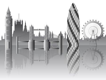 vector London skyline