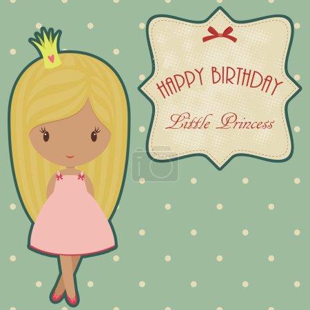 Princess retro birthday card