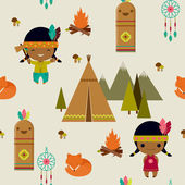American indians clipart seamless wallpaper