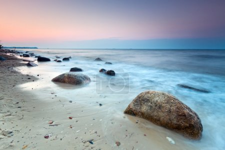 Baltic sea scenery at sunset
