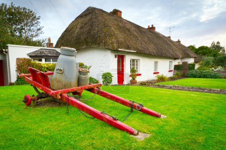 Irish traditional cottage houses in Adare