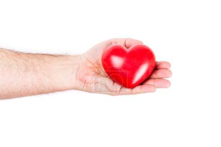 Love symbol in hand