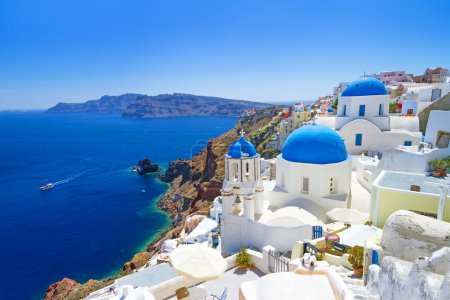 Photo for White architecture of Oia village on Santorini island, Greece - Royalty Free Image