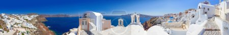 Panorama of Oia village on Santorini island