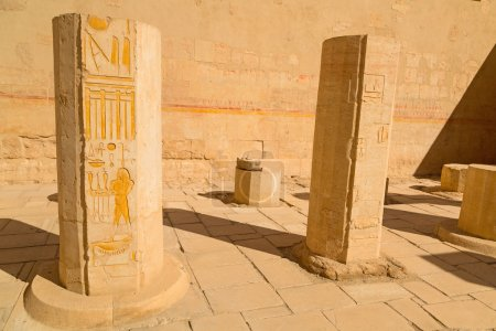 Decorated columns in the Temple of Queen Hatshepsut