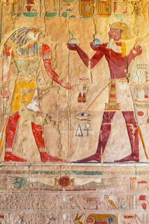 Relief on the wall of Queen Hatshepsut Temple