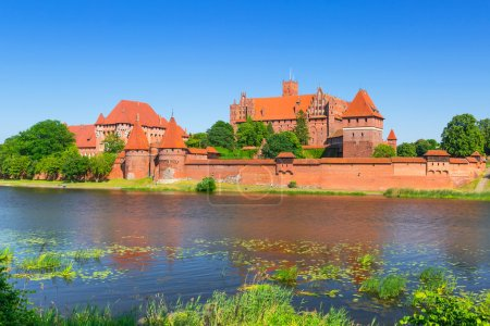Malbork castle in summer scenery