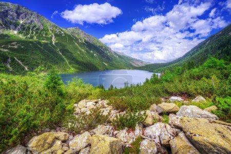 Eye of the Sea lake in Tatra mountains, Poland...