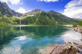 Eye of the Sea lake in Tatra mountains