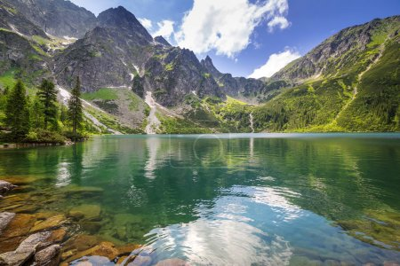Eye of the Sea lake in Tatra mountains, Poland...
