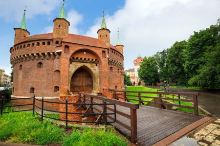 Cracow barbican - medieval fortifcation at city wa...