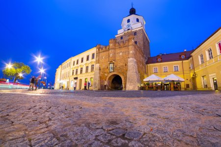 The Cracow gate of old town in Lublin