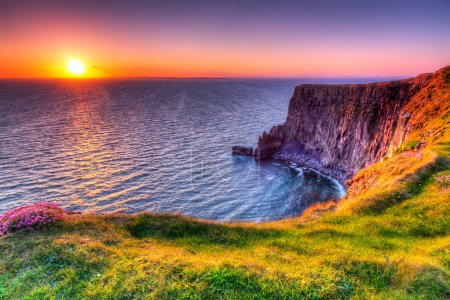 Photo for Cliffs of Moher at sunset, Co. Clare, Ireland - Royalty Free Image